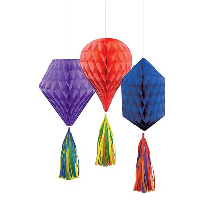 Rainbow Mini Honeycombs with Tassels