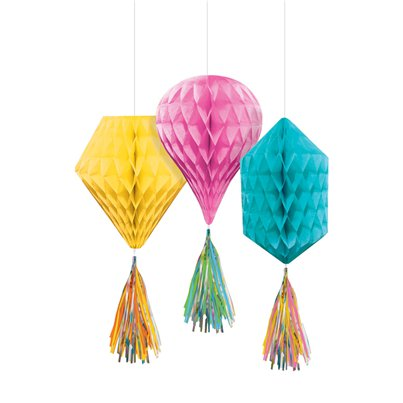 Multi Mini Honeycombs with Tassels