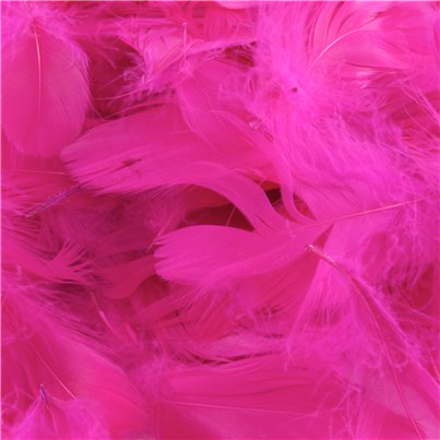 Hot Pink Decorative Feathers - 50g