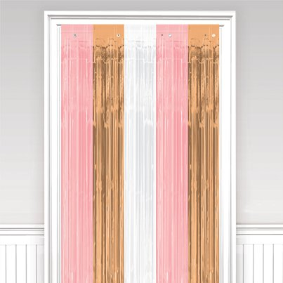 Rose Gold Blush Foil Curtain - 2.4m