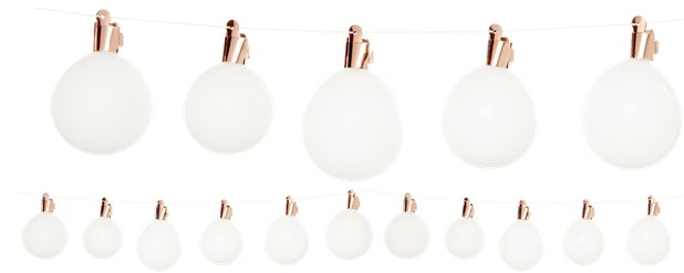 Rose Gold Light Bulb Balloon Garland - 1.5m