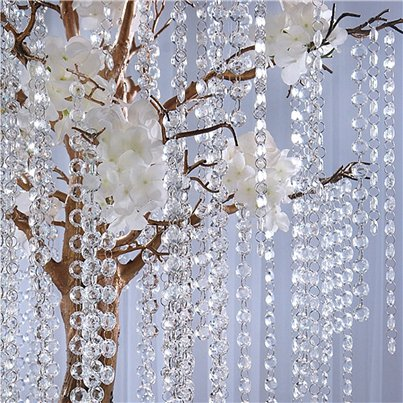 Clear Crystal Garland - 1m