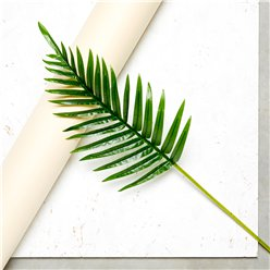 Fern Palm Green Leaf Decoration - 65cm