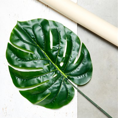 Giant Green Tropical Philo Leaf Decoration - 107cm