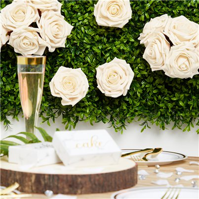 Ivory Rose Bud Bunch Decorations - 25cm