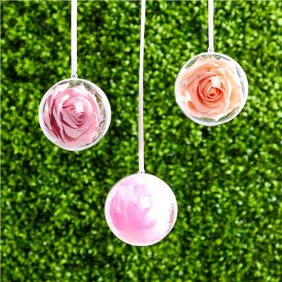 Plastic Baubles Hanging Decorations - 10cm