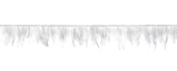 White Feather Tassel Garland Decoration - 1m