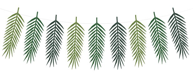 Green Palm Garland - 1.25m