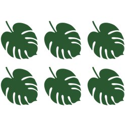Palm Leaf Place Card Decorations - 14.5cm