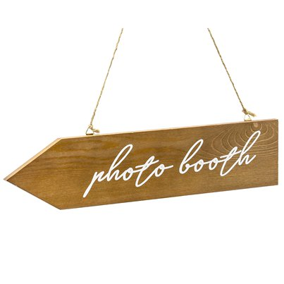 Photo Booth Wooden Signpost - 36cm x 7.5cm
