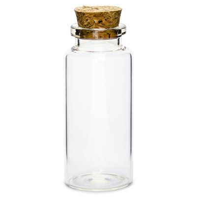 Glass Bottles with Cork Plug - 7.5cm