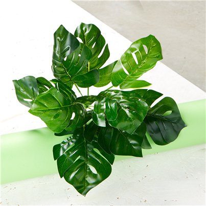 Green Monstera Plant - 7 Stems