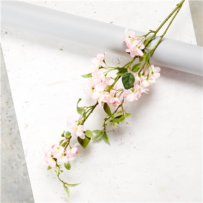 Pink Cherry Blossom Spray Decoration - 1.25m