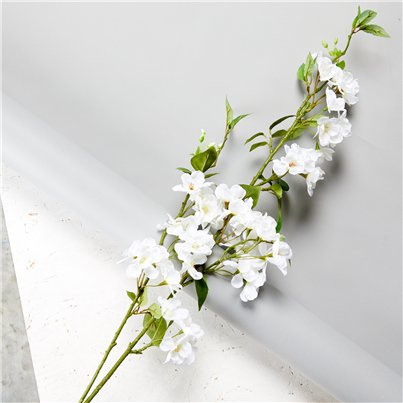 White Cherry Blossom Spray Decoration - 1.25m
