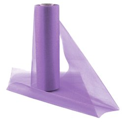 Lilac Organza Sheer Roll - 25m