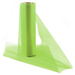 Lime Green  Organza Sheer Roll - 25m