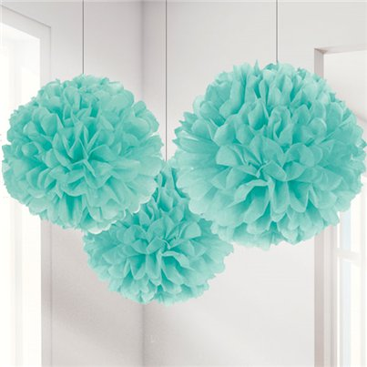 Robins Egg Pom Pom Decorations - 40cm