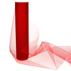 Red Tulle Roll - 30cm x 25m