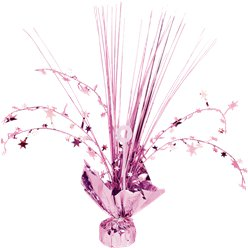 New Pink Foil Spray Table Centrepiece - 30cm