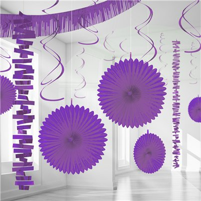 New Purple Paper & Foil Room Decorating Kit