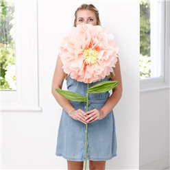 Giant Peach Flower Room Prop Decoration - 110cm