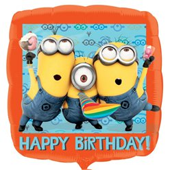 "Minions Balloon - 18"" Square Foil"