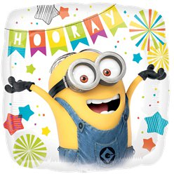 "Minions Square Birthday Balloon - 18"" Foil"