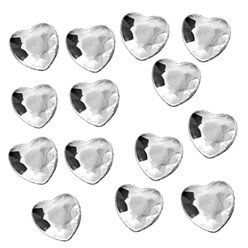 Silver Hearts Table Diamantes