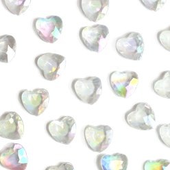 Iridescent Heart Table Diamantes
