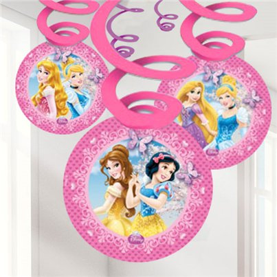 Disney Princess Sparkle Hanging Decorations - Hanging Swirls