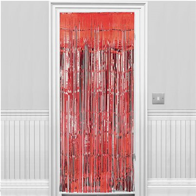 Red Foil Curtain - 2.4m