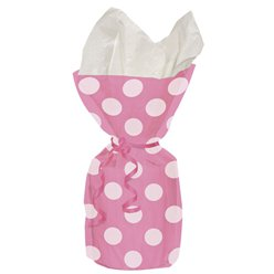 Pink Polka Dots Cello Party Bags