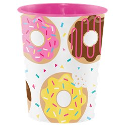 Doughnut Time Plastic Favour Cup - 473ml