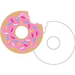 Doughnut Time Postcard Invitations - Party Invitation Cards