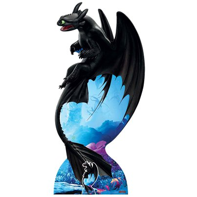 How To Train Your Dragon Soaring Toothless Night Fury Cutout - 1.9m x 92cm