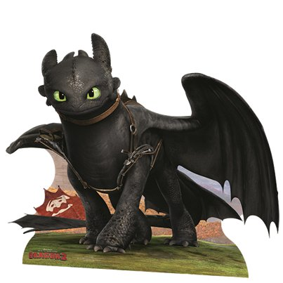How To Train Your Dragon Toothless Cardboard Cutout - 1.2m x 1m