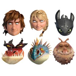 How To Train Your Dragon Masks - Assorted Masks