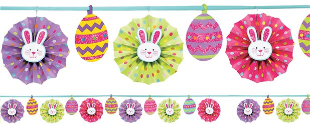 Paper Fan Easter Banner Decoration - 3.65m