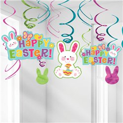 Happy Easter Hanging Swirls - 60cm