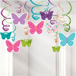 Butterfly Hanging Swirls - 60cm