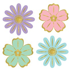 Easter Mini Flower Cutouts - 6cm