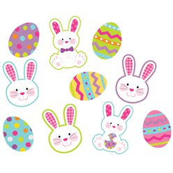 Easter Hello Bunny Mini Glitter Card Cutouts