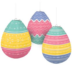 Easter Egg Shaped Pastel Hanging Lanterns