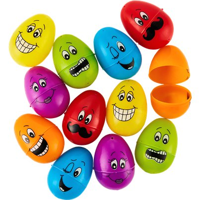 Funny Face Fillable Eggs - 6cm
