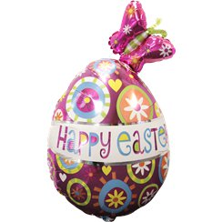 Happy Easter Butterfly Egg Balloon - 30
