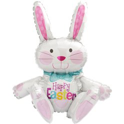 "Sitting Bunny Balloon - 24"" Foil"