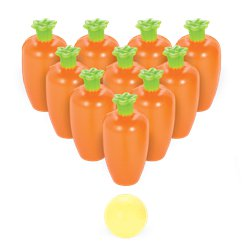 Mini Easter Carrot Bowling Game