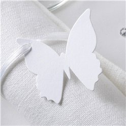Elegant Butterfly - White Luggage Tags