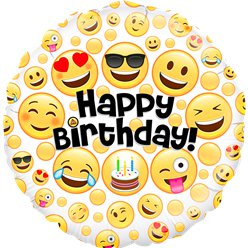 "Emoji Happy Birthday balloon - 18"" Foil"