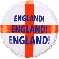 "England Football Round Balloon - 18"" Foil"